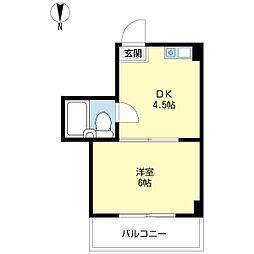 デイズハイツ三先[4階]の間取り