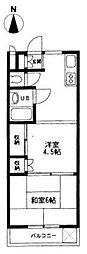 東京都三鷹市上連雀8丁目の賃貸マンションの間取り