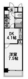 ブレスト塚本[405号室]の間取り