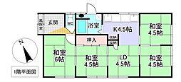 美幌町字元町5番 戸建て 4LDKの間取り