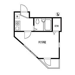 東京都練馬区氷川台3の賃貸アパートの間取り