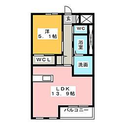 Sユニヴァリィ高塚町(仮)[1階]の間取り