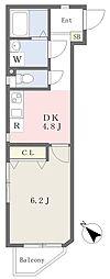 ハイホーム 4階1DKの間取り