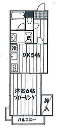第2富士見コーポ[107号室]の間取り