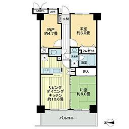 ライオンズマンション武蔵小杉東[4階]の間取り