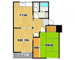 タウンコートダイキ[3階]の間取り