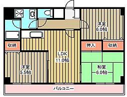 小金井本町ビル[2階]の間取り