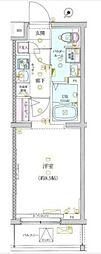 小田急小田原線 祖師ヶ谷大蔵駅 徒歩9分の賃貸マンション 2階1Kの間取り