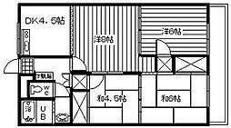 ロイヤルハイツ福井[302号室]の間取り