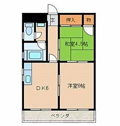 高峰ビル[2階]の間取り
