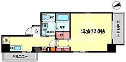 NISHITENMA-Y s village 9階1Kの間取り