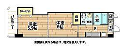 福岡県北九州市小倉北区三萩野1丁目の賃貸マンションの間取り