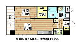 グランドハイツ黒崎[3階]の間取り