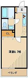 ルーラルネスト 3階1Kの間取り