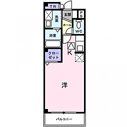 アビタシオン・シエル[3階]の間取り