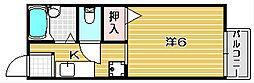 トリム南茨木3号館[103号室]の間取り