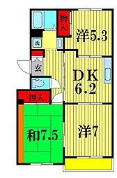 第7泉マンション[307号室]の間取り