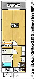 19−Cube[3階]の間取り