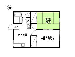 京屋誠コーポ[2階]の間取り