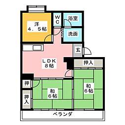 メゾン山田[2階]の間取り