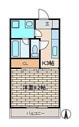 カスターニャ[2階]の間取り