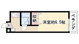 愛知県名古屋市瑞穂区高田町2丁目の賃貸マンションの間取り