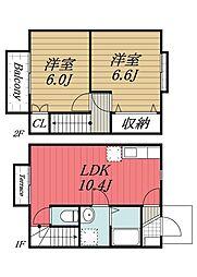 [タウンハウス] 千葉県香取市観音 の賃貸【千葉県 / 香取市】の間取り