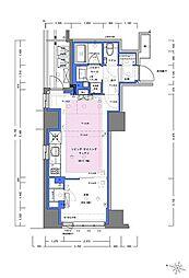 JR山手線 神田駅 徒歩4分の賃貸マンション 3階1LDKの間取り