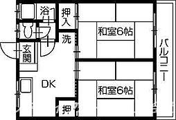 矢田荘[2階]の間取り