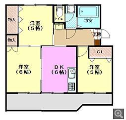 広島県廿日市市大東の賃貸マンションの間取り