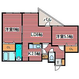 センテニアルガーデン[1階]の間取り