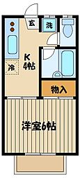 東京都府中市本宿町1丁目の賃貸アパートの間取り