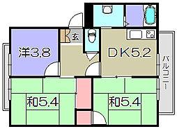 フレグランスS[1階]の間取り