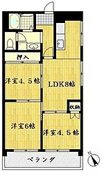 メゾン千里中央[7階]の間取り