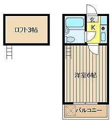レモンハウス上福岡[203号室]の間取り