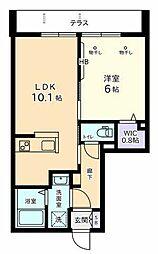 (仮称)日野本町2丁目Nマンション 1階1LDKの間取り
