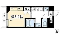 カレッジコート京都堀川今出川 4階1Kの間取り