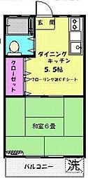 東京都墨田区業平3の賃貸マンションの間取り