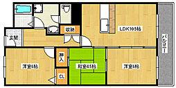マンションナシマ[402号室]の間取り
