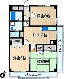 スカイマンション小泉[1階]の間取り