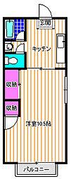 扇家ビル[3階]の間取り