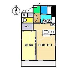 (仮)葛島新築マンション[1階]の間取り
