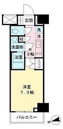 東京都府中市緑町3丁目の賃貸マンションの間取り