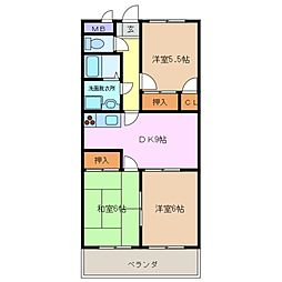 三重県四日市市松本3丁目の賃貸マンションの間取り