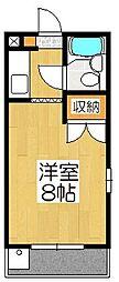 京都府京都市伏見区深草キトロ町の賃貸マンションの間取り