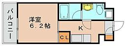 ラファセヴェルクシード博多[7階]の間取り