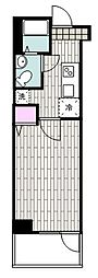 JR京浜東北・根岸線 山手駅 徒歩9分の賃貸マンション 6階1Kの間取り