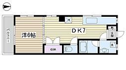 木戸坂ローヤルマンション[205号室]の間取り