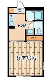 神奈川県藤沢市湘南台7の賃貸アパートの間取り