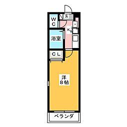 エクセランス小池II[1階]の間取り